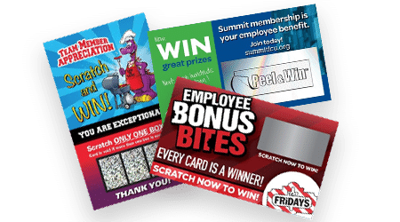 Employee Incentive Scratch Off Cards